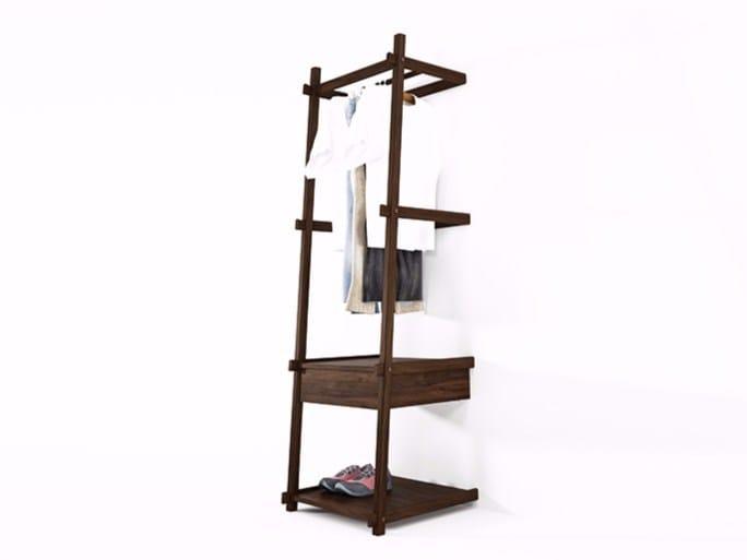 Walnut coat rack SIMPLICITY SC04-W by KARPENTER