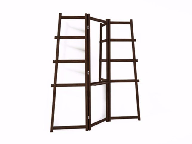 Walnut mirror / towel rack SIMPLICITY SC05-W by KARPENTER