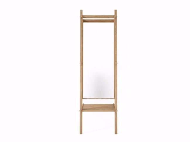 Freestanding rectangular framed mirror SIMPLICITY SC06-O by KARPENTER