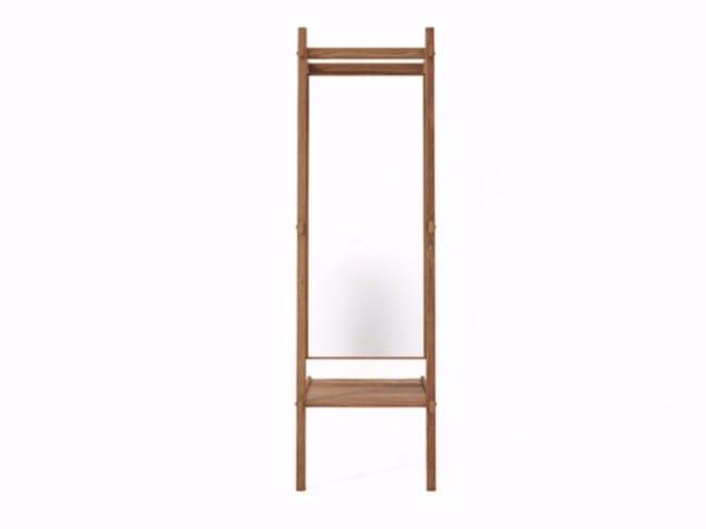 Freestanding rectangular framed mirror SIMPLICITY SC06-T by KARPENTER