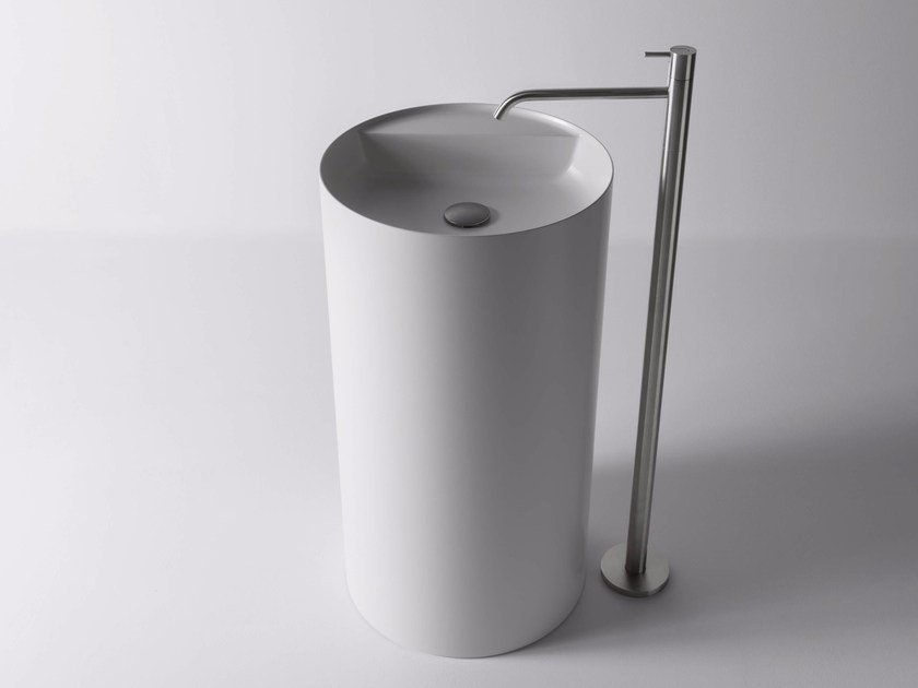 Freestanding round Flumood® washbasin SIMPLO | Freestanding washbasin by Antonio Lupi Design