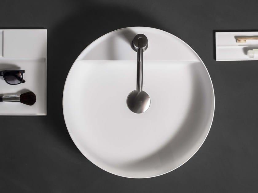 Countertop round Flumood® washbasin SIMPLO | Round washbasin by Antonio Lupi Design