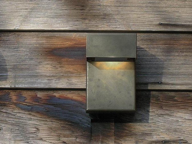 LED Anodized aluminium Wall Lamp SIMPLY 90 WALL BRAUGRAUN by PVD Concept