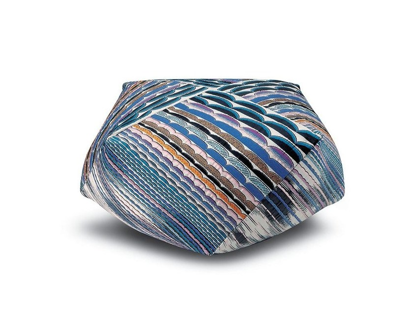 Fabric pouf with removable lining SINGAPORE | Pouf by MissoniHome
