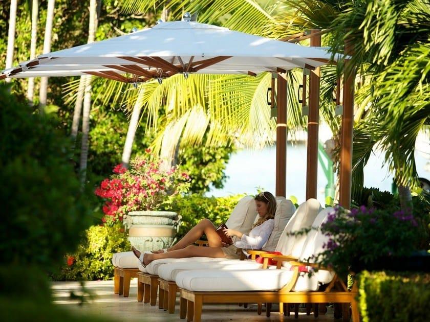 Offset Garden umbrella PLANTATION MAX SINGLE CANTILEVER by TUUCI