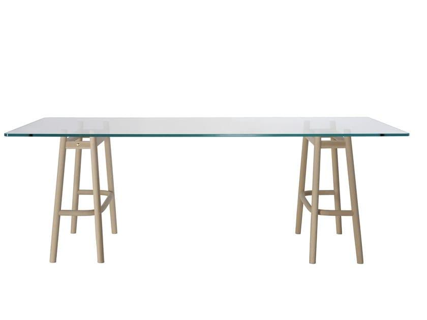 Table Gtv Wiener Tavolo Vetro Curve E Legno Dining Design Single In BtxshdQrC