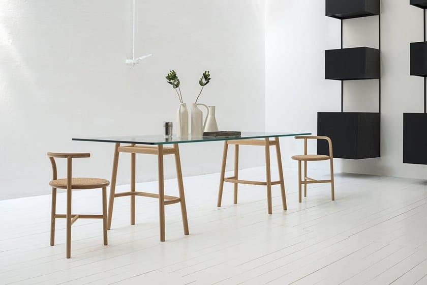 Table In E Gtv Single Design Dining Wiener Curve Vetro Legno Tavolo QBdCeWrxo