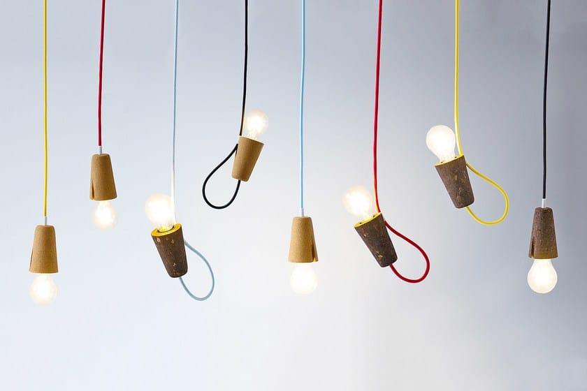 LED cork pendant lamp SININHO | Cork pendant lamp by Galula