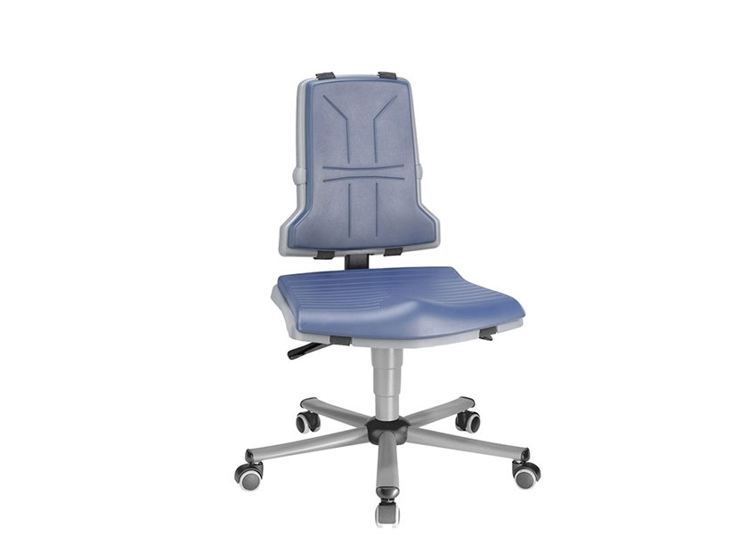 Work chair with 5-Spoke base with casters SINTEC 9803 by bimos