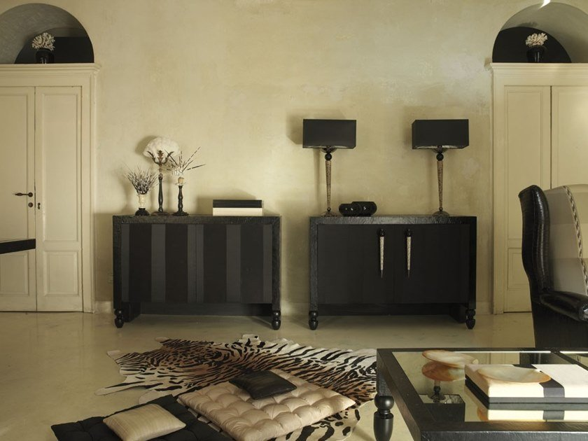 Lacquered wooden sideboard SINUOSA by Scandal