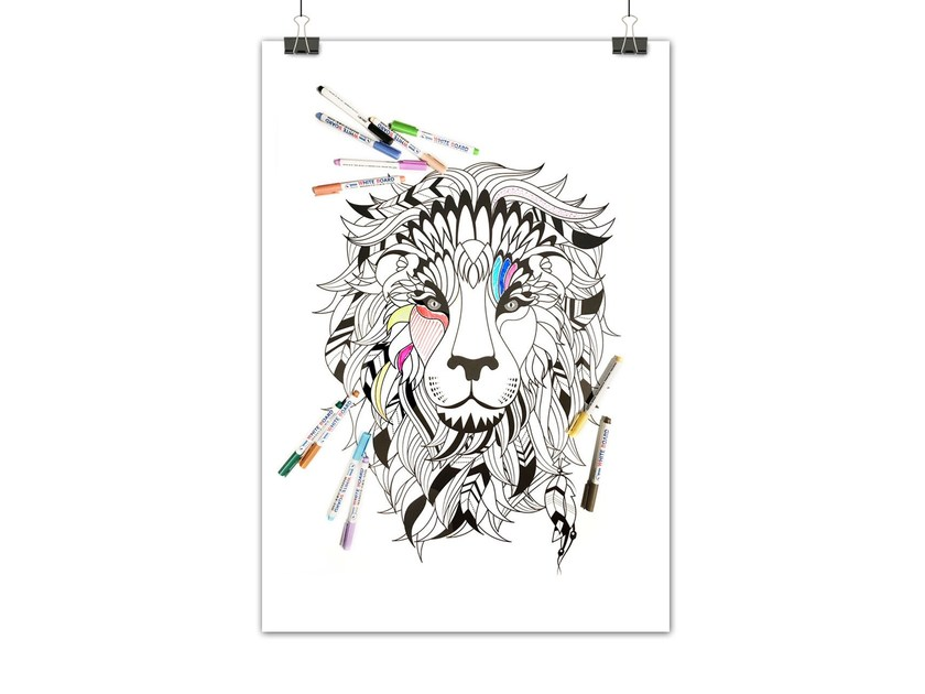 Lavagnetta magnetica SIOUX LION by Groovy Magnets