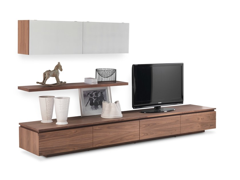 Sectional custom wooden storage wall SIPARIO by Riva 1920
