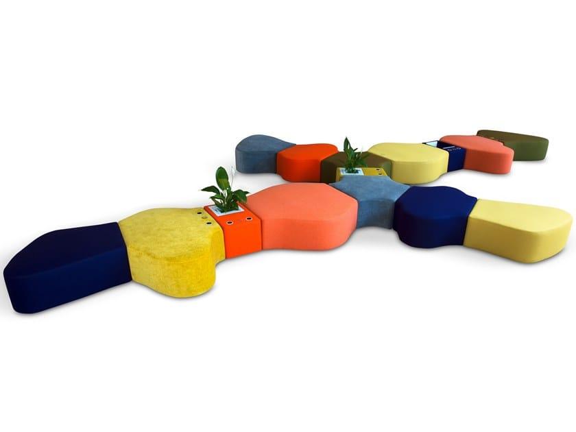 Modular fabric bench SIR-PENT | Modular bench by Adrenalina