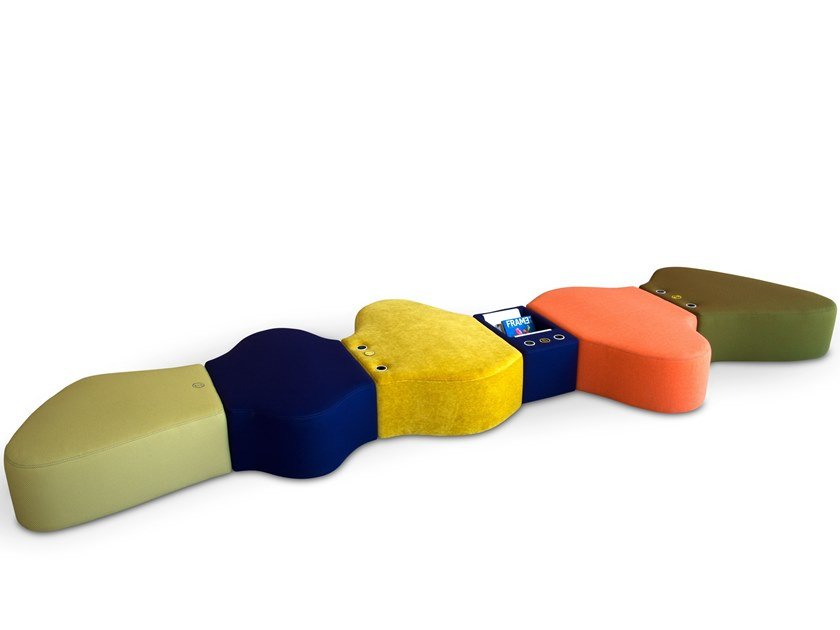 Modular fabric bench SIR-PENT | Modular bench by Adrenalina