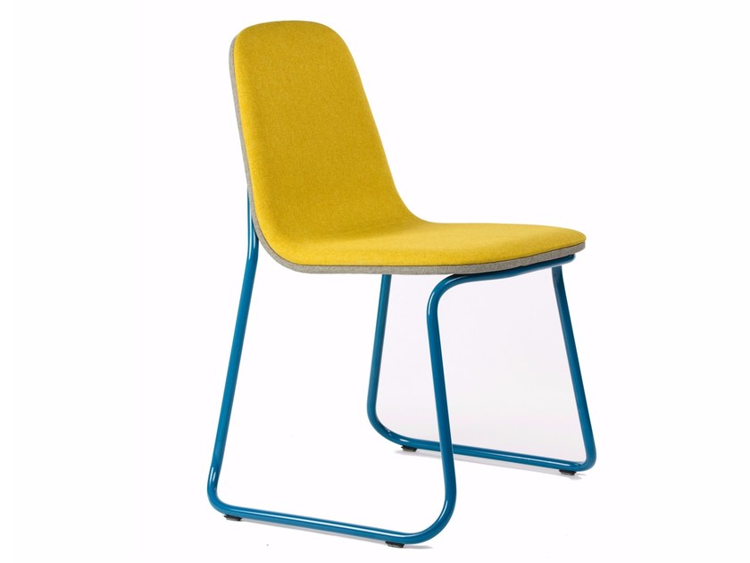Sled base stackable fabric chair SIREN | Fabric chair by bogaerts label