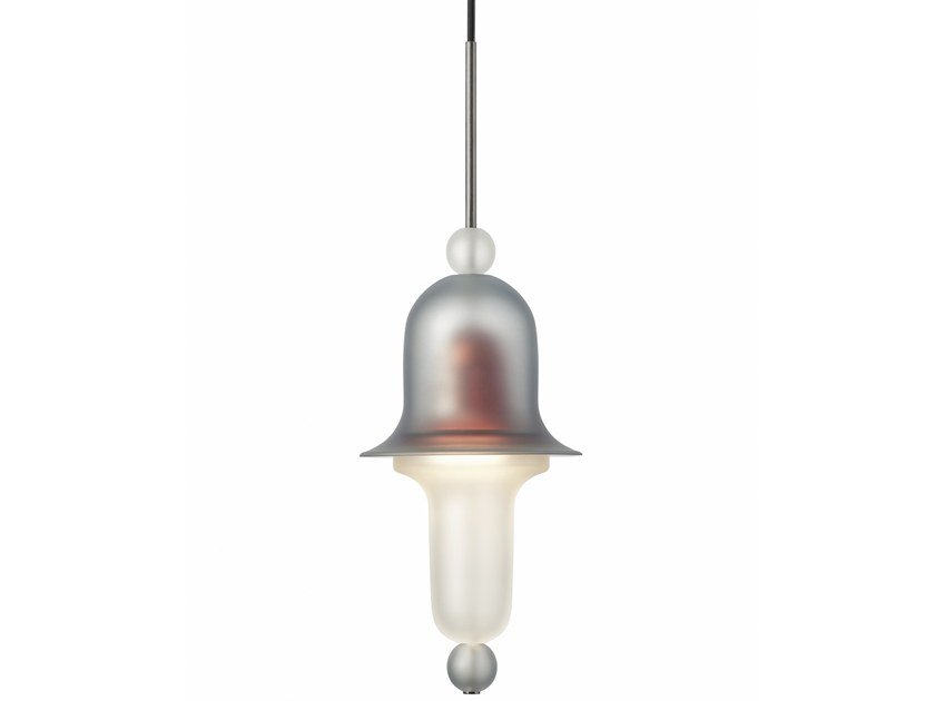 Direct light handmade Frosted Crystal pendant lamp SIREN by PRECIOSA Lighting