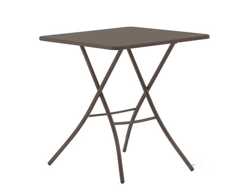 Folding square garden table SIRIO 70x70 by FIAM