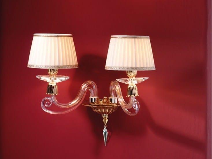 Wall light with Swarovski® crystals SIRIO A2 by Euroluce Lampadari