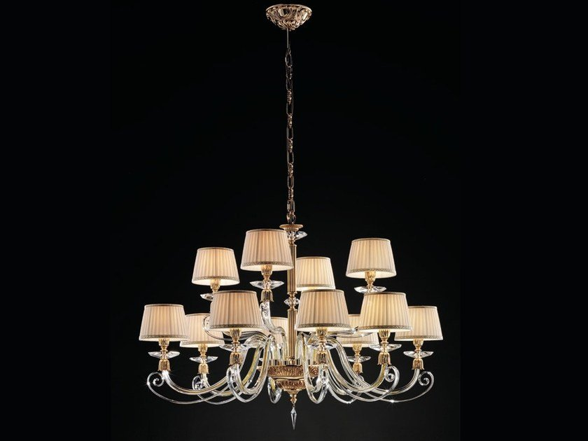 Chandelier with Swarovski® Crystals SIRIO L8+4 by Euroluce Lampadari