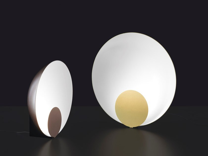 LED indirect light metal table lamp SIRO by Oluce