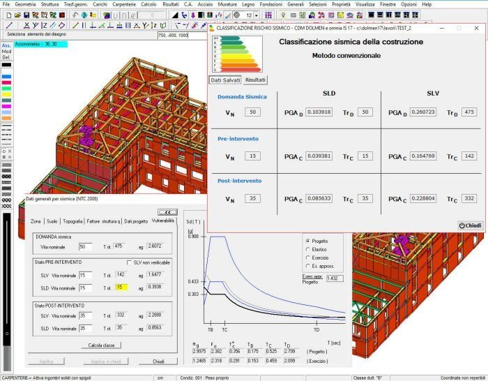 CAD-integrated structural calculation software SISMABONUS by CDM Dolmen