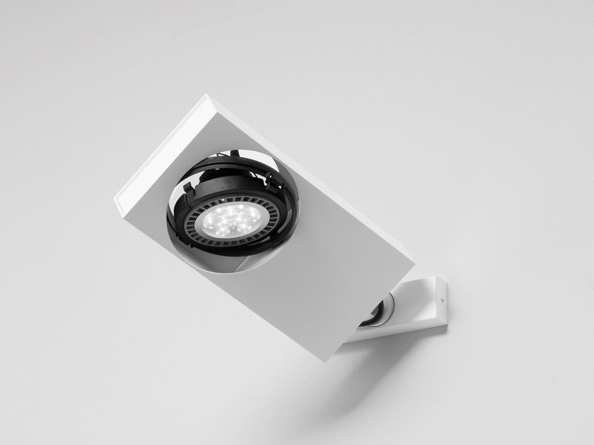 Adjustable aluminium spotlight SISTEMA BRICK | Adjustable spotlight by Martinelli Luce
