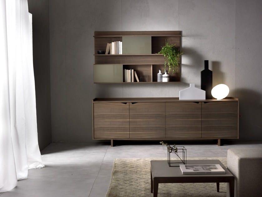 Wood veneer sideboard with doors SISTEMA WING | Sideboard with doors by Pacini & Cappellini