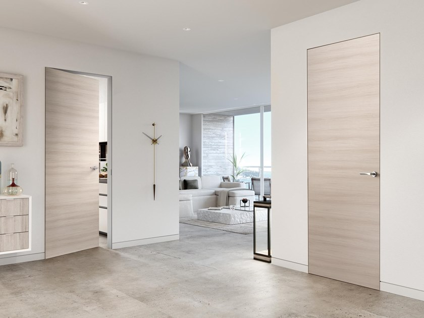 Flush-fitting wooden door with concealed hinges SISTEMA ZERO by FERREROLEGNO