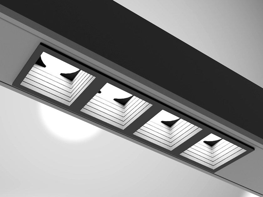 Faretto a LED a soffitto da incasso SISTEMA9 by PLEXIFORM