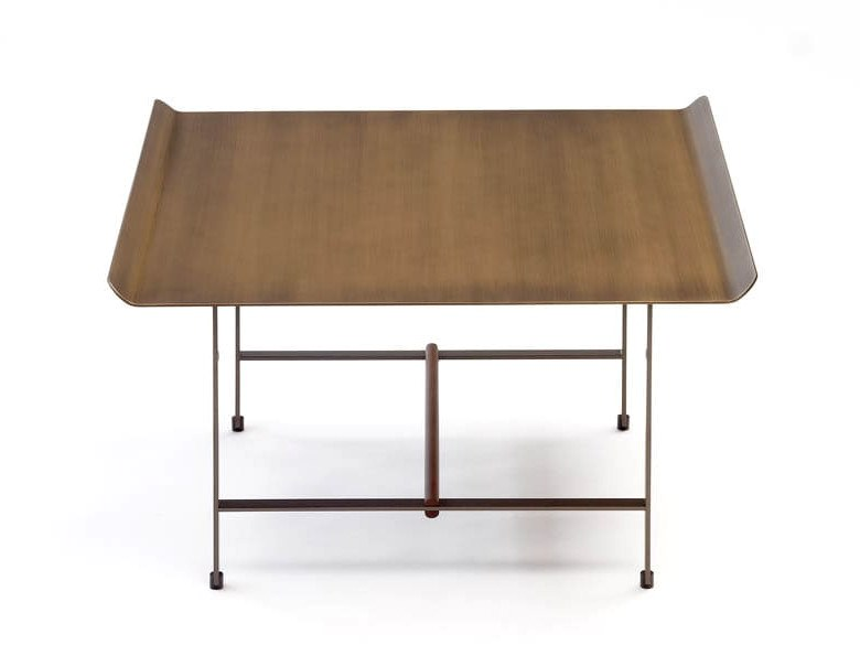 Square bronze coffee table SISTERS | Bronze coffee table by COEDITION