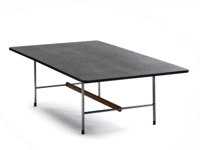 Low rectangular wood veneer coffee table SISTERS | Coffee table by COEDITION
