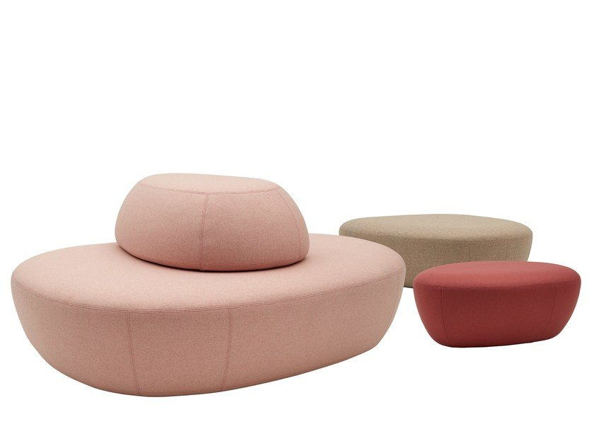 Pouf letto in tessuto SISTERS by SOFTLINE