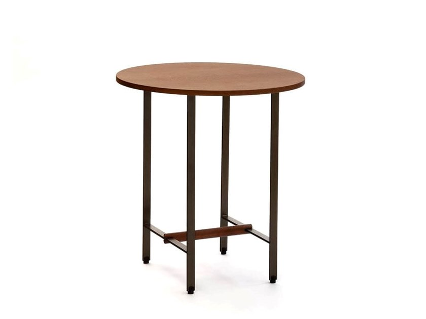 Round solid wood side table SISTERS | Side table by COEDITION