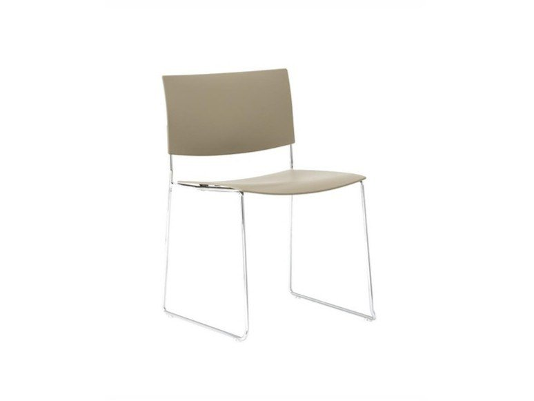 Sled base stackable open back technopolymer chair SIT SI1201 | Technopolymer chair by Andreu World