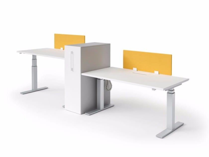 Bureau réglable en hauteur opérationnel sit stand by quadrifoglio