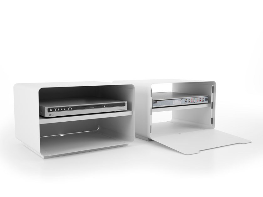 Floorstanding steel CD rack SITABO by Systemtronic