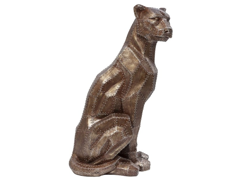 Resin decorative object SITTING CAT RIVET COPPER by KARE-DESIGN