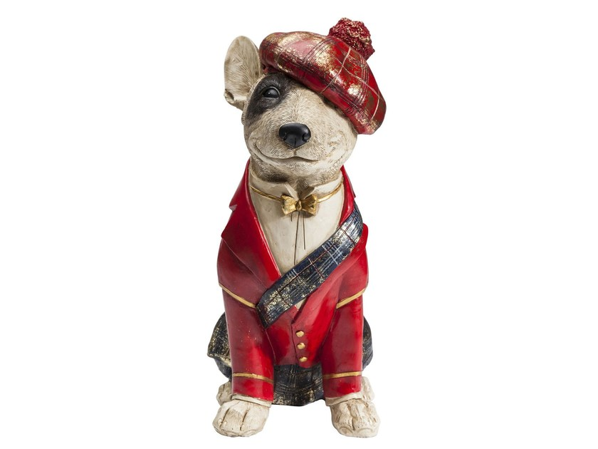 Resin money box SITTING SCOT DOG by KARE-DESIGN