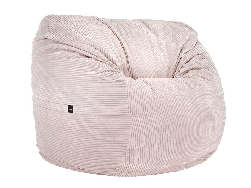 Upholstered fabric bean bag CORD VELOURS BEAN BAG by Vetsak