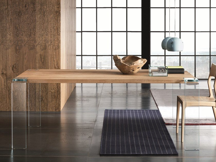 Rectangular oak dining table SIVIGLIA by AltaCorte