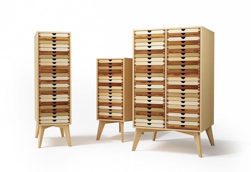 Cassettiera a terra in legno massello SIXTEMATIC 2 | Cassettiera by sixay furniture