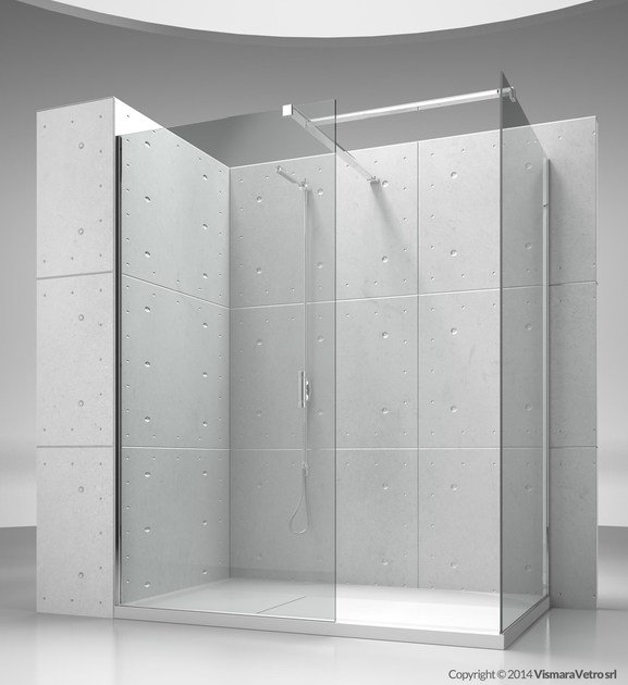 Corner custom crystal shower cabin SK-IN SK+SK by VISMARAVETRO