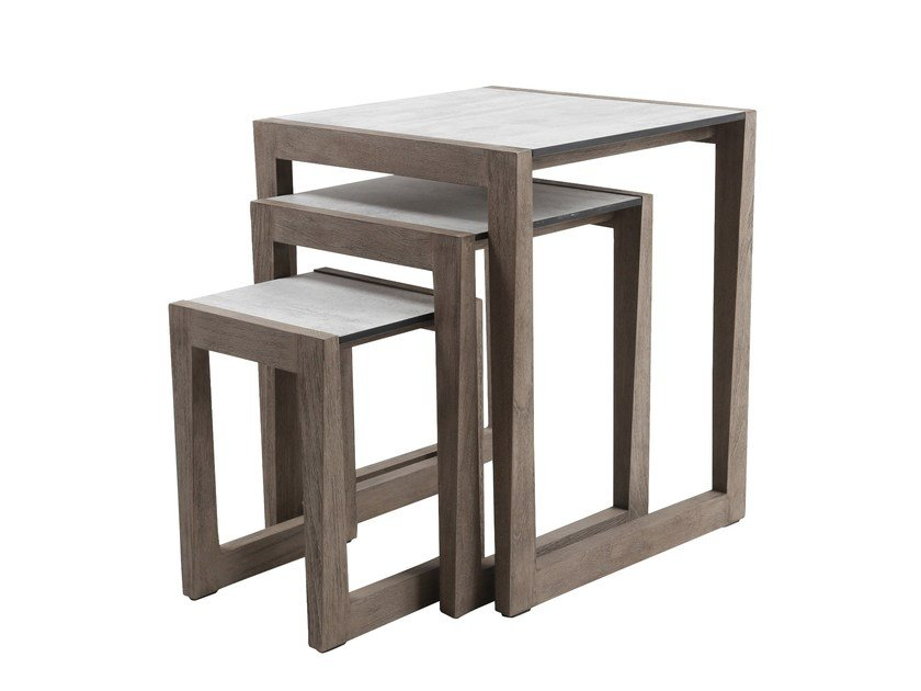 Square Garden Side Table Skaal By Les Jardins