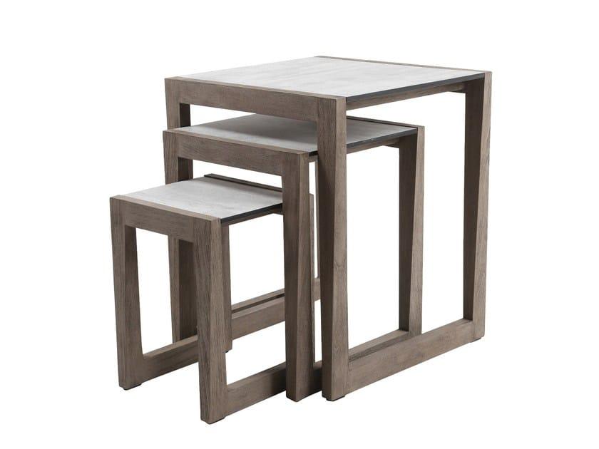 Tavolino da giardino di servizio quadrato SKAAL | Tavolino da giardino by Les jardins
