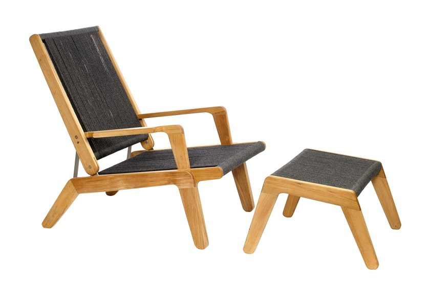 Contemporary Style Teak Deck Chair SKAGEN | Teak Deck Chair By OASIQ
