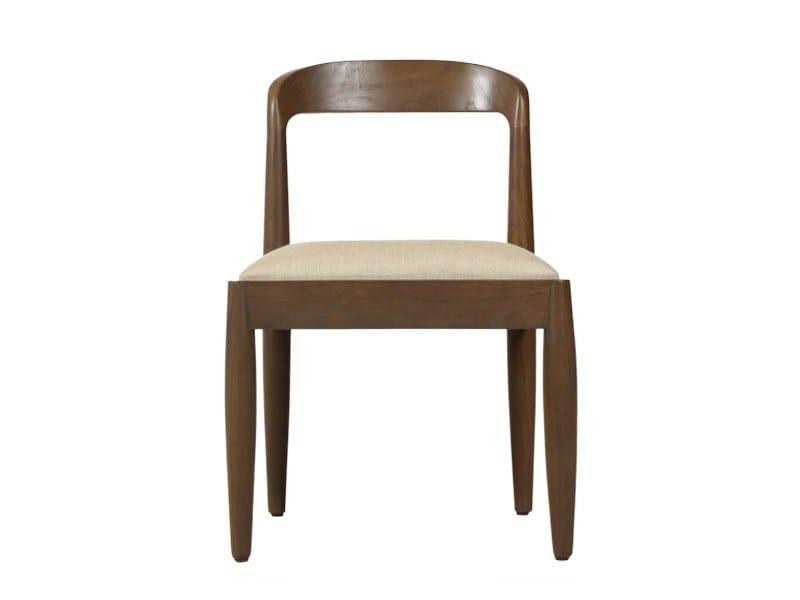 Upholstered teak chair SKANDI | Chair by WARISAN