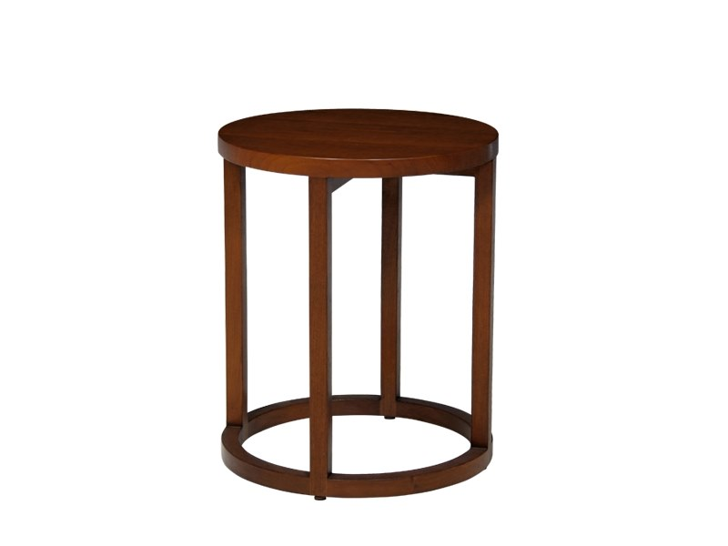 Round solid wood side table SKANDI | Side table by WARISAN