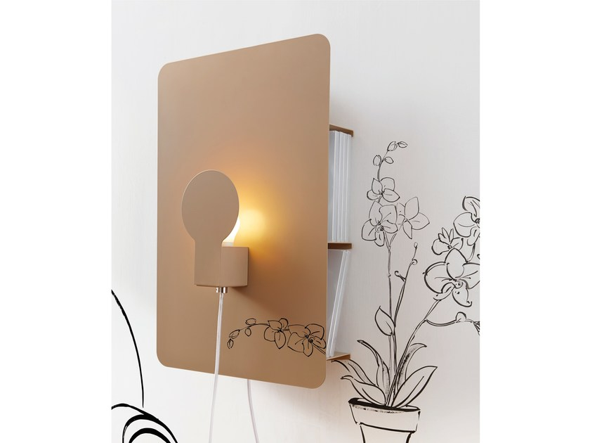 LED indirect light iron wall light SKETCH by ZAVA