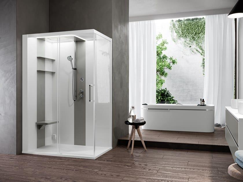 Corner multifunction shower cabin SKILL 2P by NOVELLINI