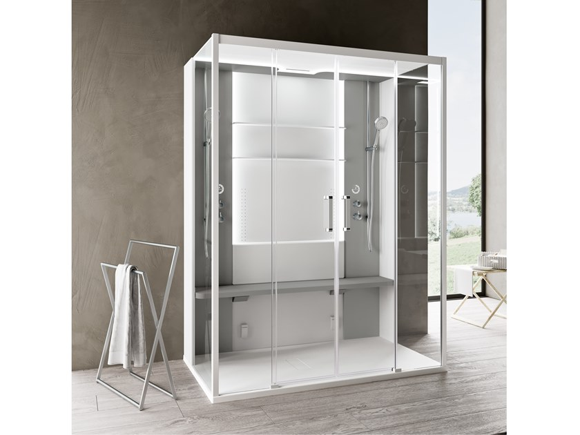 Multifunction shower cabin SKILL DUAL by NOVELLINI